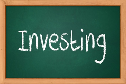 Investing chalk board image